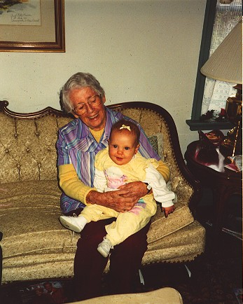 Photo of Samantha and her great grandmother Rose Theresa Gill Graziano