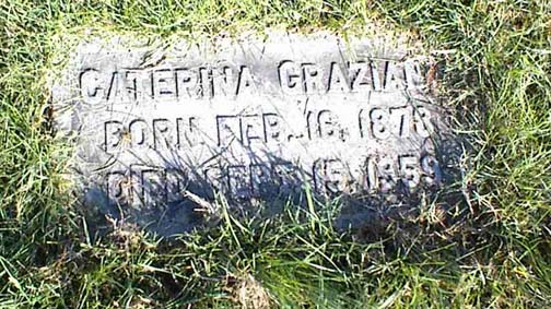 Photo of Caterina Graziano's Grave At Most Holy Redeemer Cemetery Section JJ in Baltimore, MD
