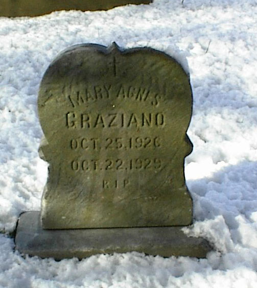 Photo of Mary Agnes Graziano's Grave At St Mary's Govans Cemetery Section F in Baltimore, MD