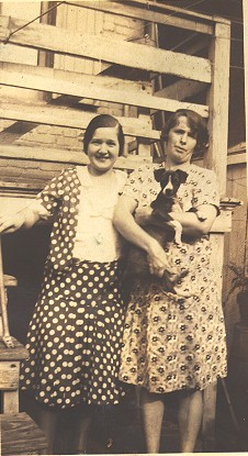 Photo of Rose Theresa Gill with her dog